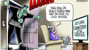 The public just doesn't seem to be afraid of the Global Warming scare tactics